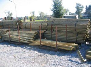 houtafsluiting-geimpregneerde-palen
