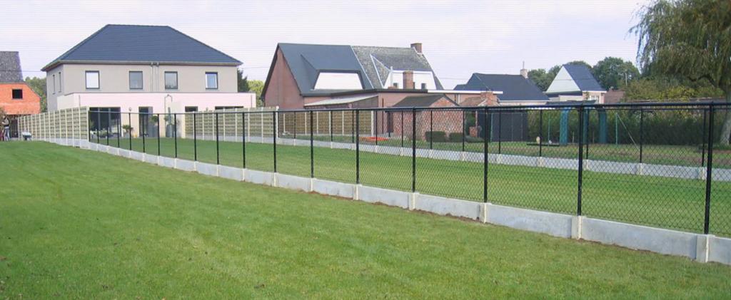 Draadafsluiting-betonplaat